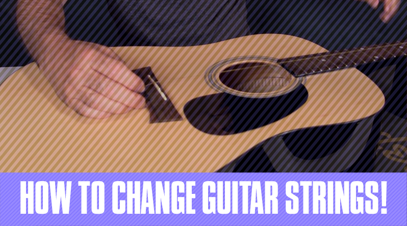 pretty nice a3825 4be70 How to String a Guitar - 6 Super Easy Steps - Guitar Tricks Blog