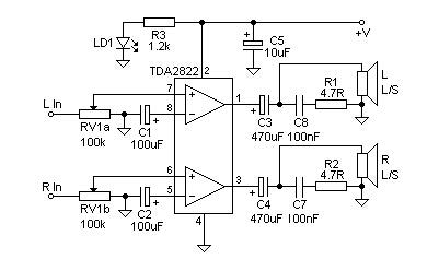 Low power stereo amplifier built with TDA2822 - Guitar Tricks Forum