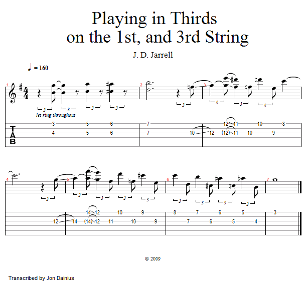 Guitar Lessons: Playing In Thirds: 1st and 3rd String