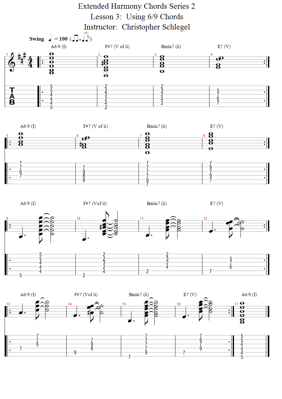 Guitar Lessons Dominant 9th Chords