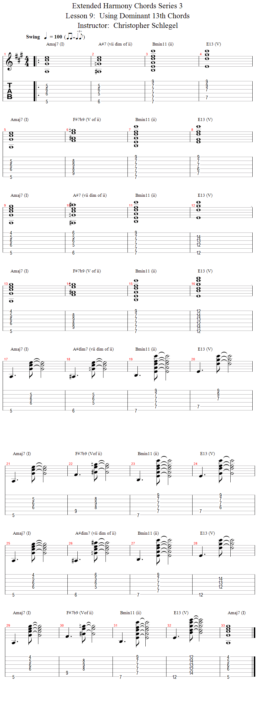 Guitar Lessons A String Rooted Progression With 11th Chords