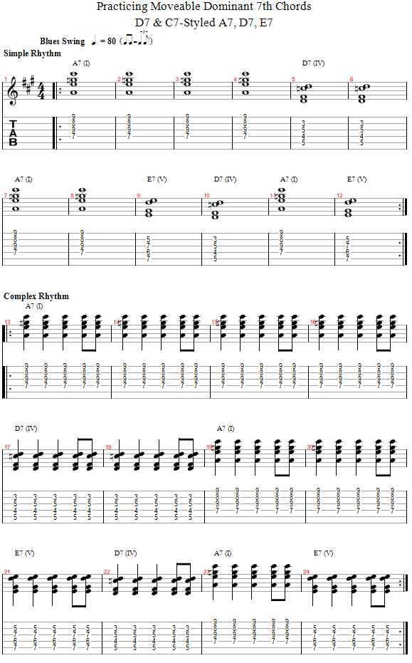 Guitar Lessons Mixing C D Styled Moveable Chord Blues