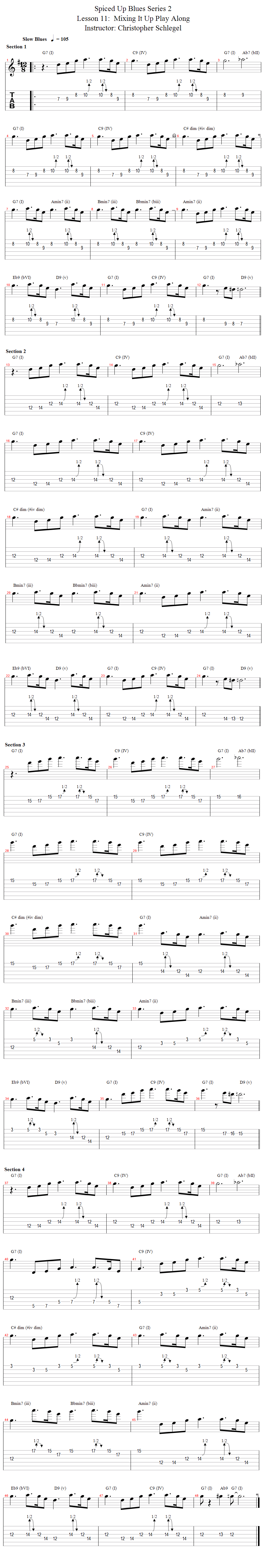 lesson notation