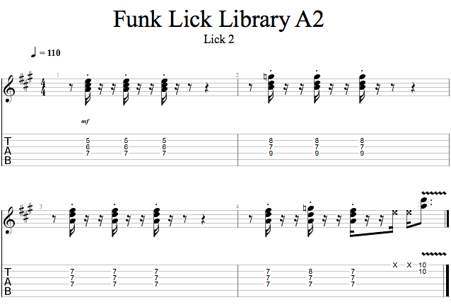 Guitar Lessons: FA2: Lick 2 - Happy Chords