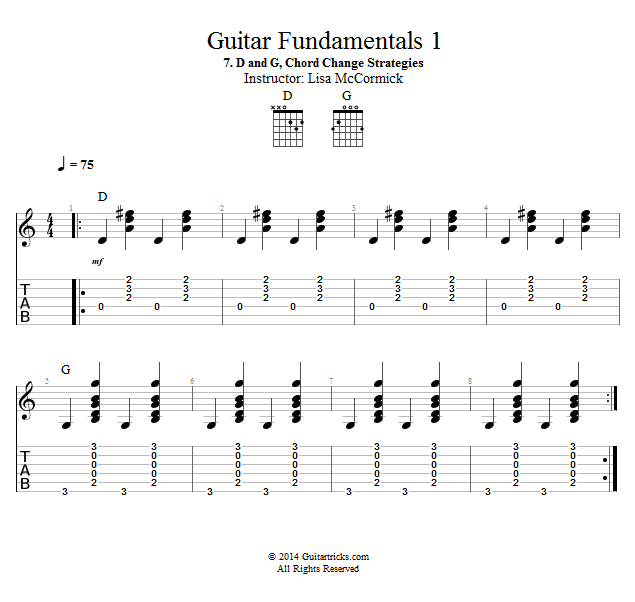 Guitar Lessons D And G Chord Change Strategies