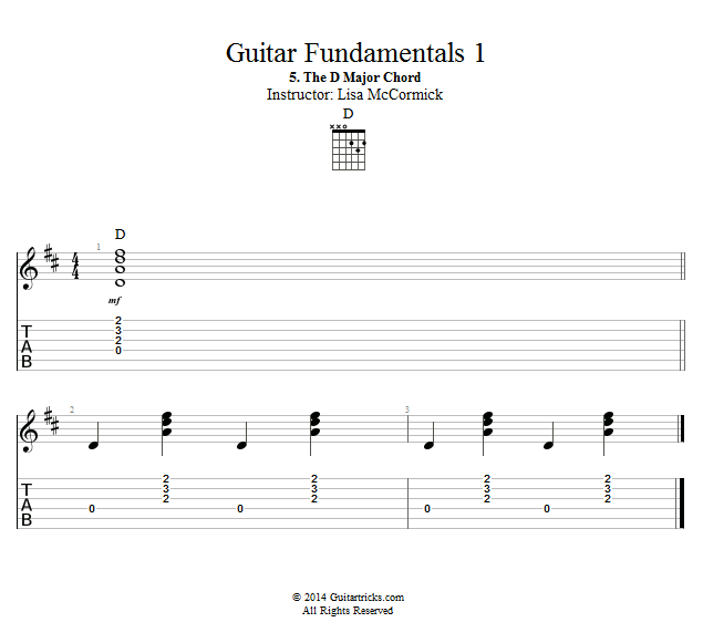 Guitar Lessons: The D Major Chord