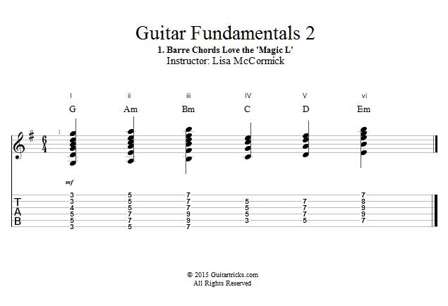 Guitar Lessons: Barre Chords LOVE the \'Magic L\'!