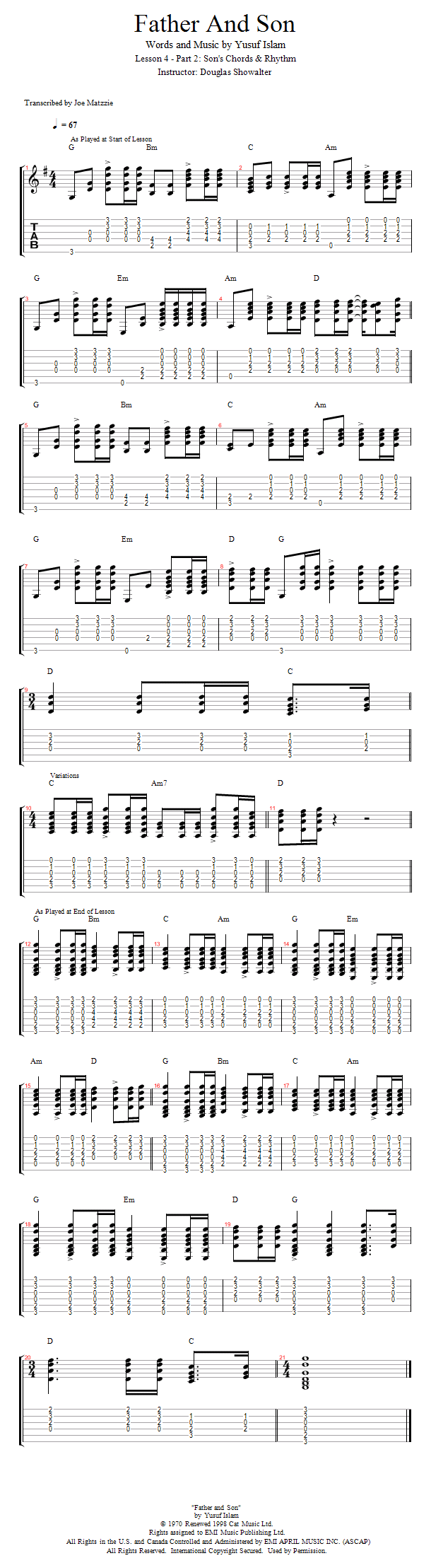 Guitar Lessons Part 2 Sons Chords Rhythms