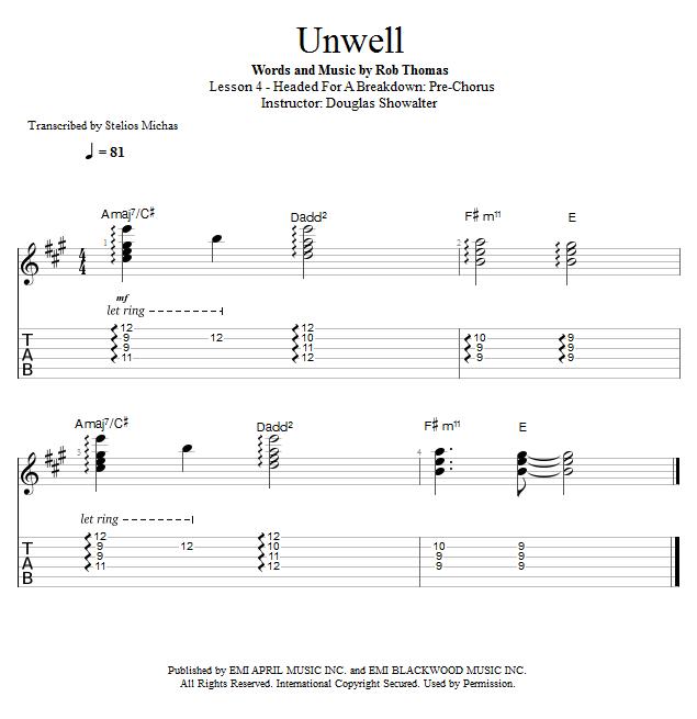 Guitar Lessons: Headed for a Breakdown: Pre-Chorus