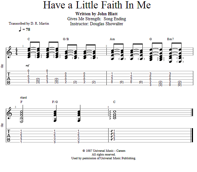 Guitar Lessons Gives Me Strength Song Ending