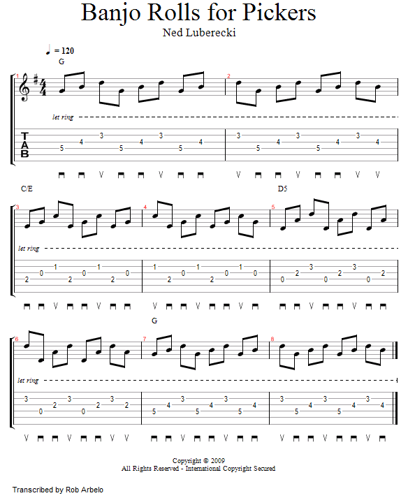 Guitar Lessons: Banjo Rolls for Pickers