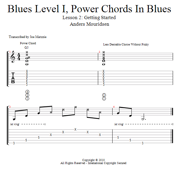Guitar Lessons: Get Started: Power Chords in Blues