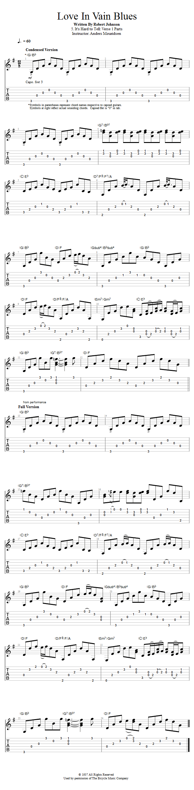 Guitar Lessons: It's Hard to Tell: Verse 1 Parts