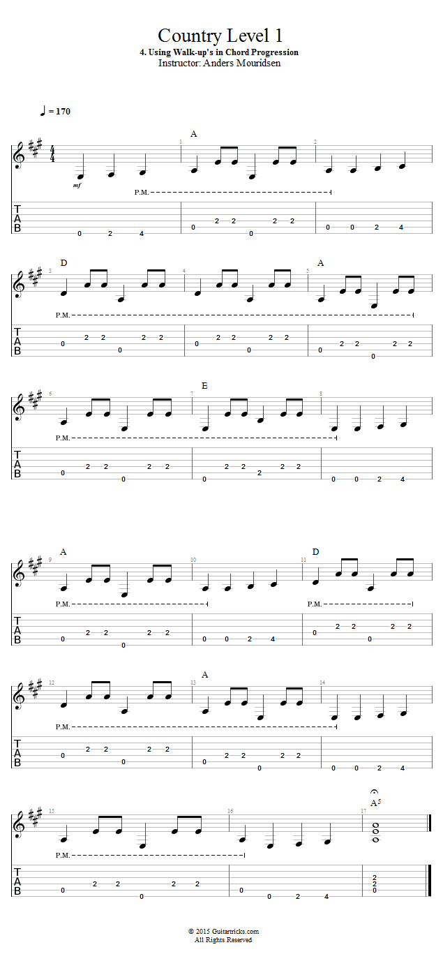 Guitar lessons using walk ups in chord progression open in new window hexwebz Choice Image