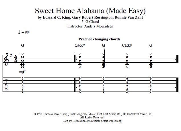 Guitar Lessons: G Chord