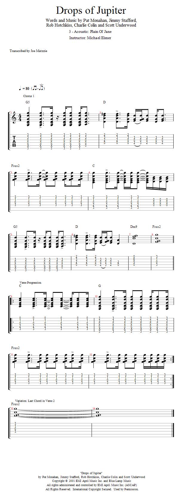 Guitar Lessons Acoustic Plain Ol Jane