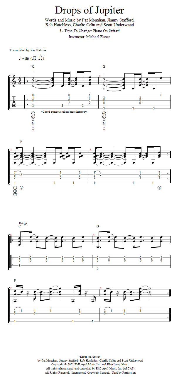 Guitar Lessons: Time To Change: Piano On Guitar!