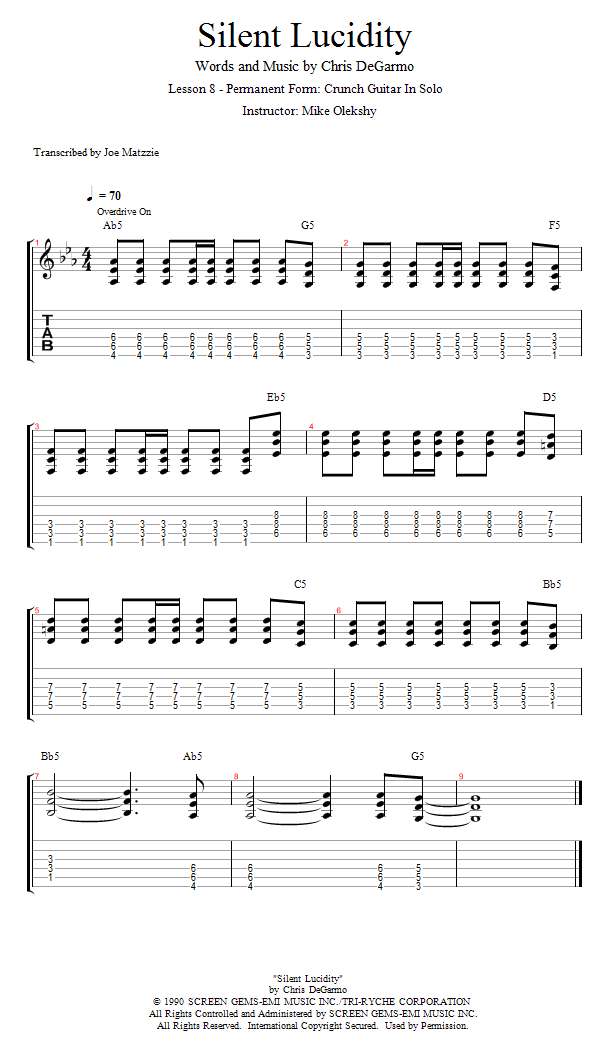 Guitar Lessons: Permanent Form: Crunch Guitar In Solo