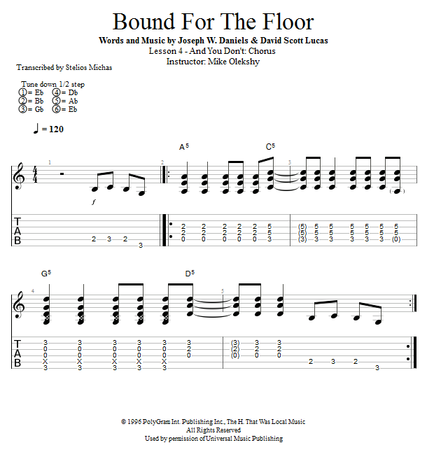 Guitar Lessons: And You Don't: Chorus