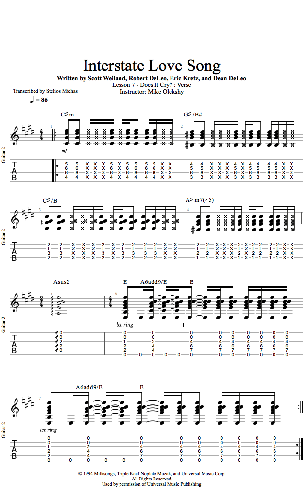 Guitar Lessons: Does It Cry: Verse
