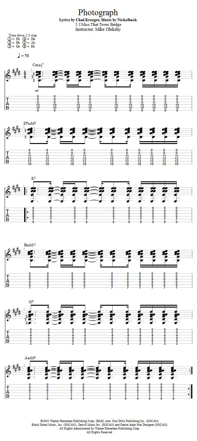 Guitar Lessons I Miss That Town Bridge