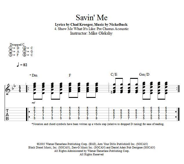 Guitar Lessons: Show Me What It\'s Like: Pre Chorus Acoustic