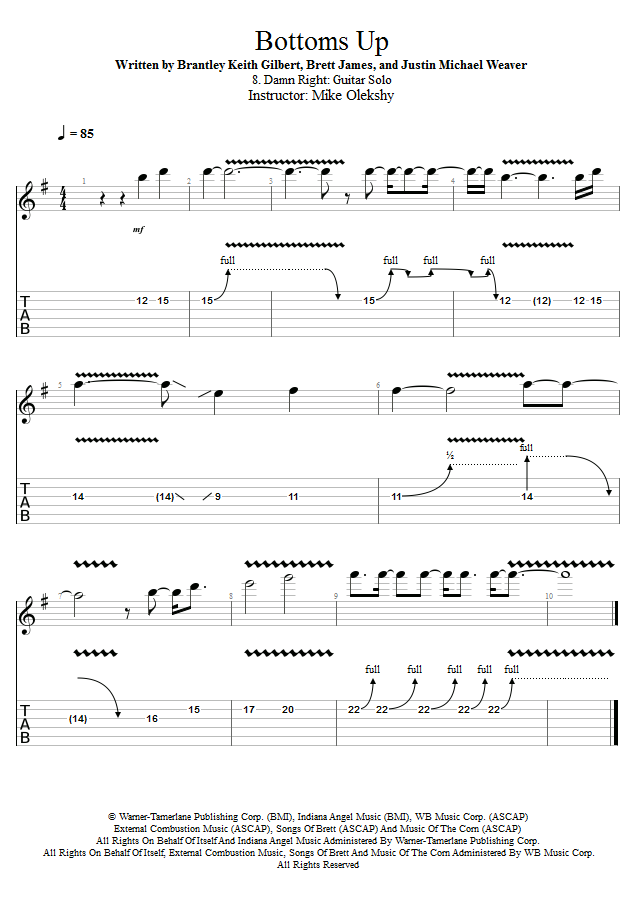 Guitar Lessons Damn Right Guitar Solo