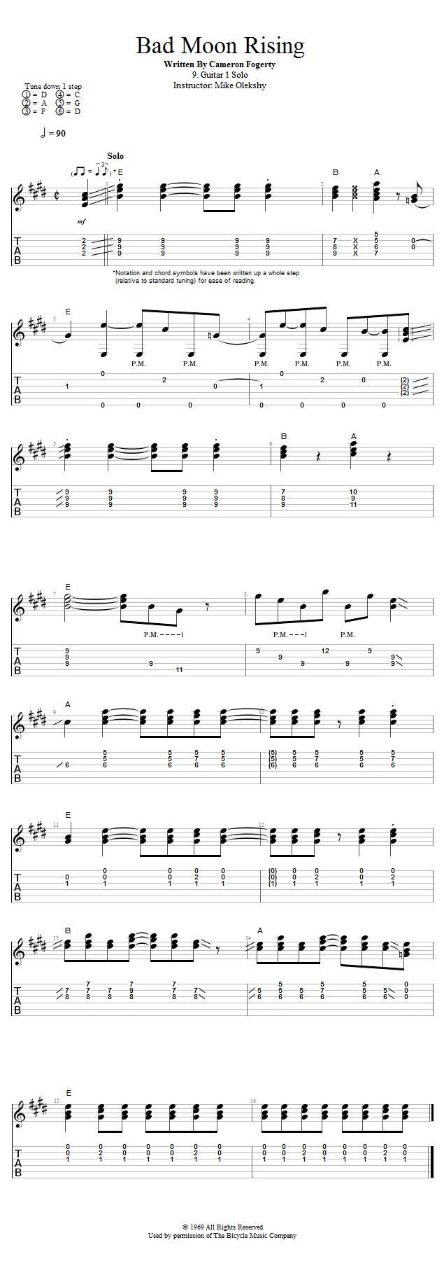 Guitar Lessons Guitar 1 Solo