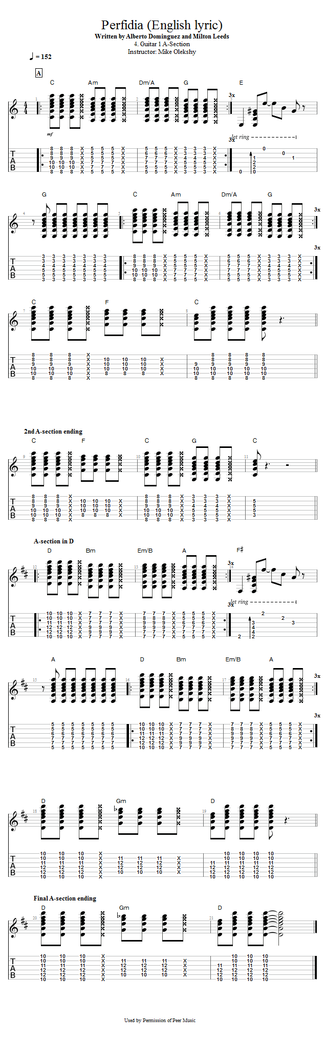 Guitar Lessons Guitar 1 A Section