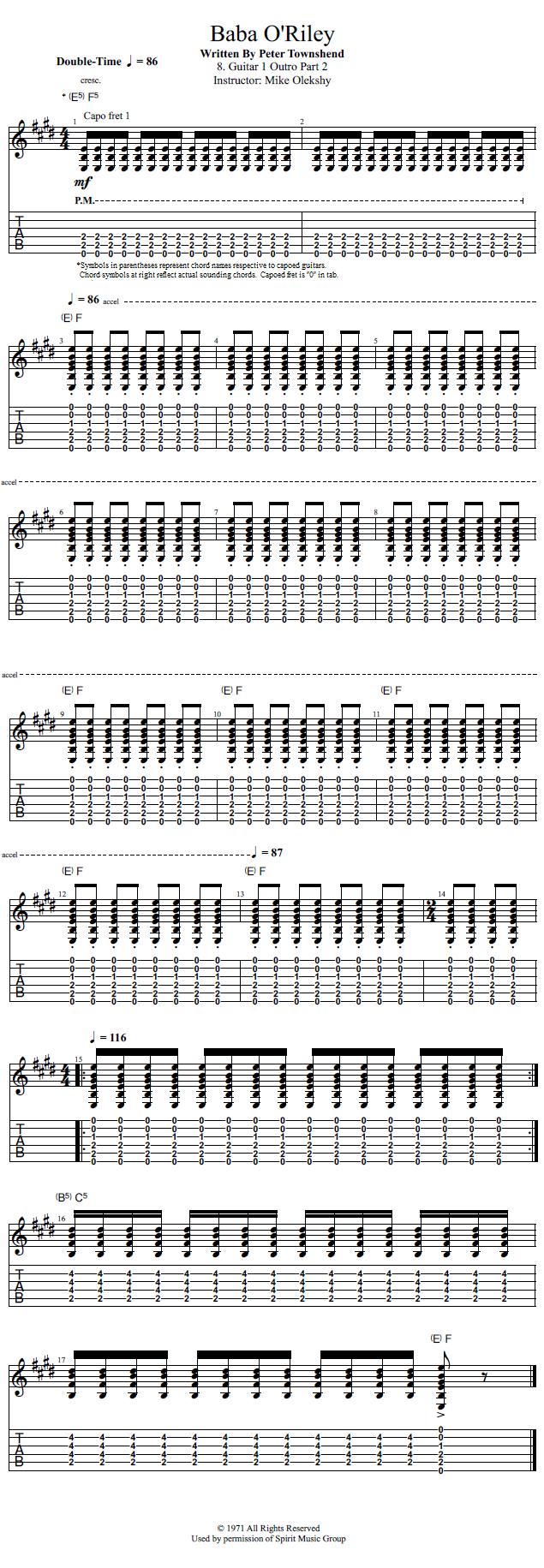 Guitar Lessons Guitar 1 Outro Part 2