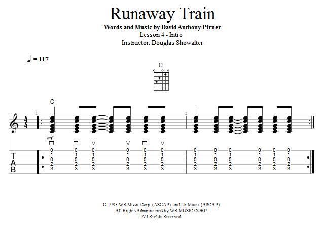 Guitar Lessons: Runaway Train: Intro