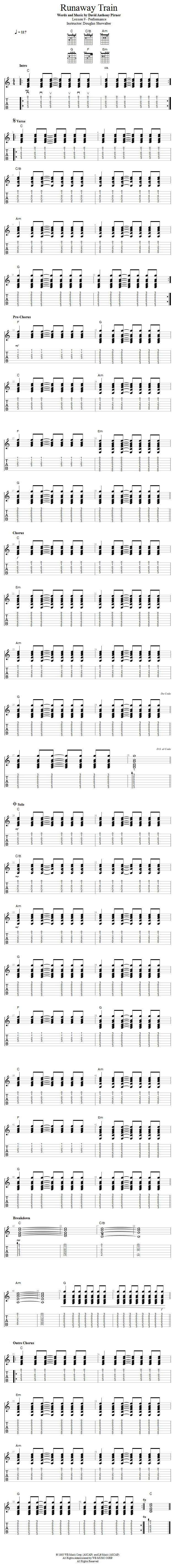 Guitar Lessons Runaway Train Made Easy Play Along