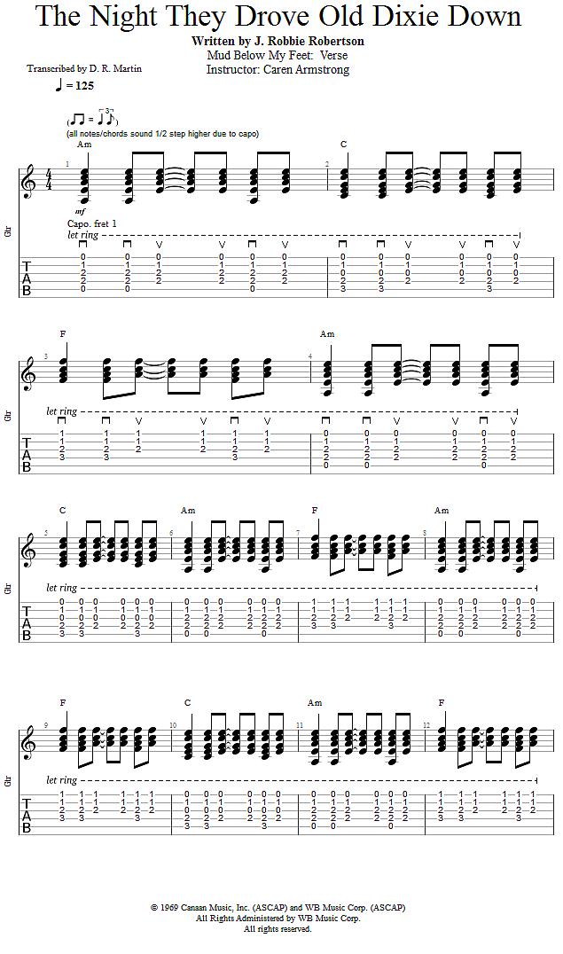 Guitar Lessons: Mud Below My Feet: Verse