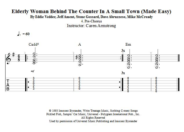 Guitar Lessons Pre Chorus