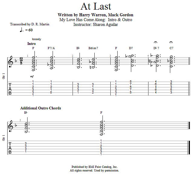 Guitar Lessons My Love Has Come Along Intro Outro